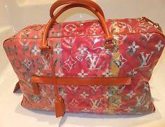 louis vuitton 2007 richard bag | Louis Vuitton Richard Prince Pink Denim Defile Weekender GM Pulp Bag ...