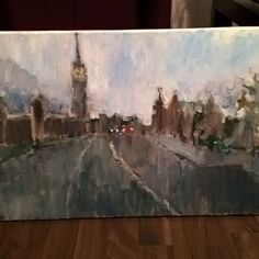 Acrylic painting 🎨 London #instaart #acrylicpainting #london #traditionalart #art