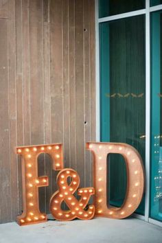 DIY lighted letters
