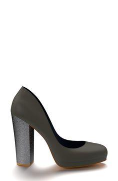 Shoes of Prey Leather Platform Pump (Women)