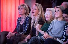Queen Maxima, Princess Beatrix, Princess Mabel, Princess Laurentien and Prince Constantijn of the Netherlands attend the 2015 Prince Claus Awards at the Royal Palace