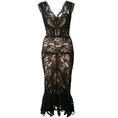 Nicole Miller sheer lace dress (1,045 BAM) ❤ liked on Polyvore featuring dresses, black, nicole miller, nicole miller cocktail dresses, nicole miller dresses and sheer lace dresses