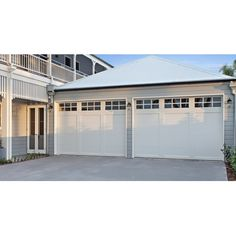 View our extensive range of Sectional Garage Doors, with quality brands such as Gliderol, Steel-Line & B&D. White Garage Doors, Garage Door Paint, Wood Garage Doors, Exterior Design, Garage Design, Exterior Colors, Wayne Dalton Garage Doors, Sectional Garage Doors, Garage Door Styles