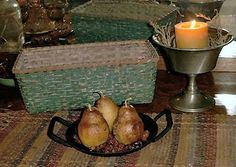 Beeswax Pear Candles-