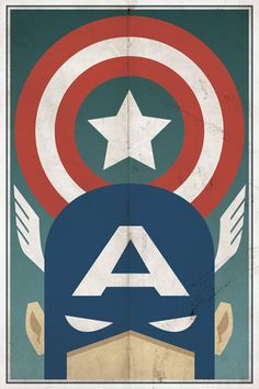 Awesome Vintage Captain America Poster