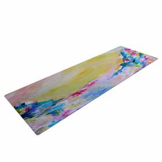 "Ebi Emporium ""Something About the Sea"" Yellow Multicolor Yoga Mat"