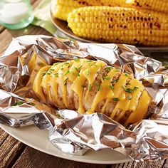 Grilled Hasselback Potatoes. Stuffed with cheese and garlic butter, these grilled potatoes are a great side dish.