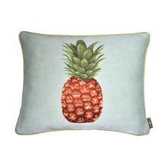 Coussin rectangle jacquard pineapple blue background - Cushions - Art de Lys -