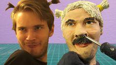 Sculpting #PewDiePie in modelling clay #pewdiepiefanart