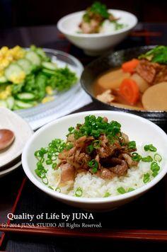 豚丼 | JUNAオフィシャルブログ「Quality of Life by JUNA」Powered by Ameba