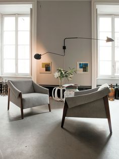 Manufactured by Porada | Designed by G. Vigano | #chair #armchair