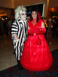 Ed and I as Beetlejuice and Lydia / Dragon Con 2013 Pics 315