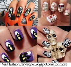 NAIL PIXIIE: Halloween Easy DIY Nail Designs Tutorial 1