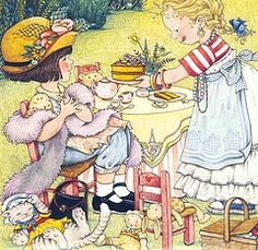 Sweet - Mary Engelbreit.       Tea parties with my granddaughters are delightful!