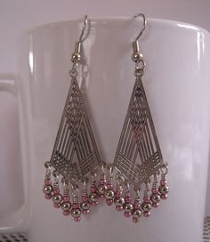 Fringed Lazer Drop Earrings