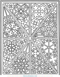 Free Stained Glass Window Coloring