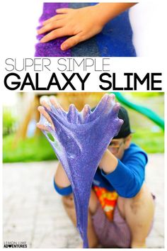 Super Simple Galaxy Slime Recipe for Kids