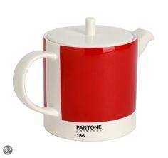 Pantone Theepot - 0.85 l - Porselein - Ketchup Red