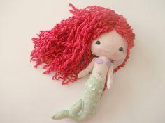 Felt Mermaid Doll Gingermelon Doll by PlatoSquirrel on Etsy