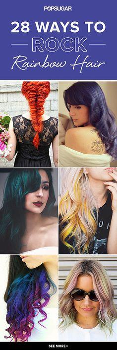 101 Real Girls Who Dare to Rock Rainbow Hair - cam hair ideas!