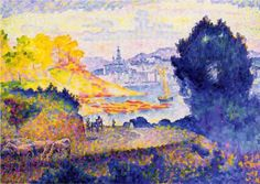 View of Menton - Henri-Edmond Cross