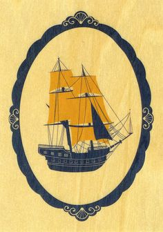 wooden ship by Pretty Little Things