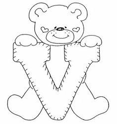 Laminas de ositos para niños   Abecedario infantil para colorear y imprimir,tienes pequeños que están por aprender el abecedario y ahun no ...