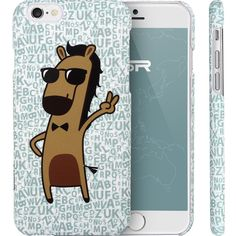 (Cartoon Horse Mr. Big Shot)ESR Illustrators Series Protective Case with Aesthetic Print Illustration Hard Back Cover for iPhone 6 [4.7 inches]