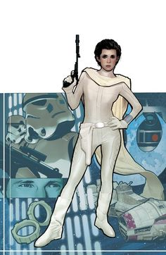 adam hughes princess leia | issue 2 media type pencil and ink art type cover 6239 views cover art ...