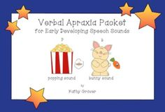 Verbal Apraxia Packet for Early Developing Speech Sounds - Free for the weekend (5/4)!
