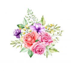 Floral design bouquet wedding card templ...   Free Vector #Freepik #freevector #background #banner #flower #frame