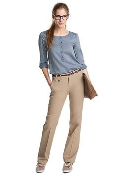 stretch-housut beige lycraa CASUAL - Esprit 59,95 e