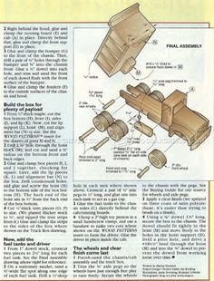 #1064 Wooden Truck Plans - Children's Wooden Toy Plans and Projects