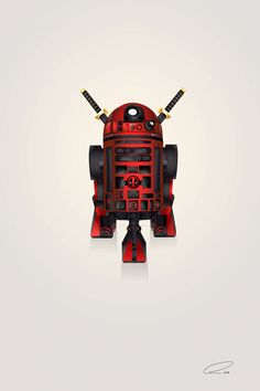 Deadpool R2-D2 Art Print