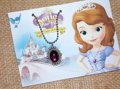 Sofia the First Magical Amulet Necklace by madistreasures on Etsy, $13.00