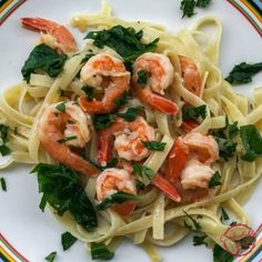 Super quick and easy Shrimp and Pasta dinner.