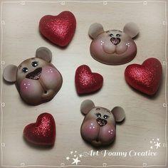 Art Foamy Creative (@artfoamycreative) | Instagram photos and videos Biscuit, Pasta Flexible, Dolls, Creative, Videos, Craft, Animal Faces, Craft Work, Baby Dolls