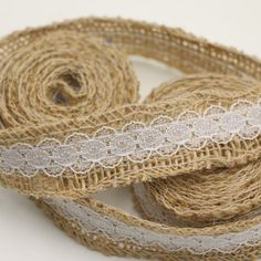 2.5CM width Natural Jute Hessian Burlap Ribbon Rustic Wedding Belting Strap wedding decorations ivory ribbon white blackT206 #Affiliate