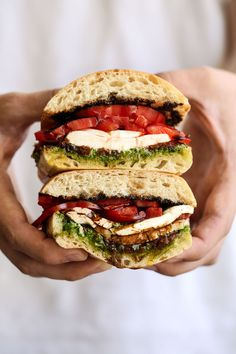Heirloom Tomato and Mozzarella Sandwich recipe from Cooking with Cocktail Rings