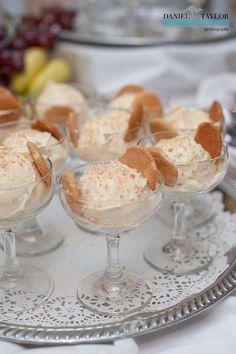 Yummy banana pudding at a New Orleans #destination #wedding. (Daniel Taylor Photography) Fancy twist on a classic dessert!