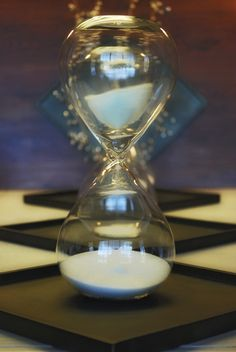 Jumbo Hour Glass White from Roost Home Furnishings