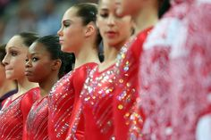 The US women's gymnastics team bags the gold medal at the team final, 2012 Olympics.