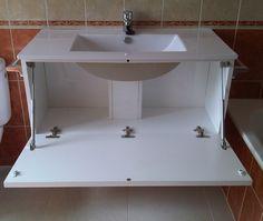 ¿Tienes un cuarto de baño o de aseo pequeño? Vamos a sacarle partido al espacio con este lavabo