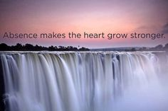 Absence makes the heart grow stronger. LOL.