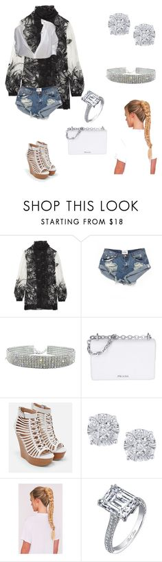 """Untitled #122"" by wolftatii ❤ liked on Polyvore featuring Anna Sui, OneTeaspoon, Prada, JustFab and Effy Jewelry"