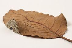 Dwelling. Beautiful handmade natural art. 3D leaves. Susanna Bauer
