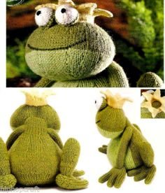 ALAN DART Toy Knitting Pattern – Prince Charming the Frog Prince –