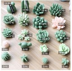 Succulent Mold – Plant Silicone Fondant Mold – Succulent Candle – Succulent Plant Mold – Succulent Fondant Mold – Succulent Soap – Best Garden Plants And Planting Cute Polymer Clay, Cute Clay, Polymer Clay Flowers, Polymer Clay Miniatures, Polymer Clay Charms, Polymer Clay Projects, Diy Clay, Clay Crafts, Felt Crafts