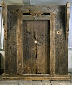 The door to the Stebbins House, now in the Pocumtuck Memorial Museum, showing the hole hacked into it when the French and Native Americans attacked early on Feb. 29, 1704. I saw a write up of the attack in National Geographic when I was a kid and couldn't wait to see the door when I moved to this area.