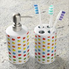 Christmas Holiday Celebration Soap Dispenser And Toothbrush Holder